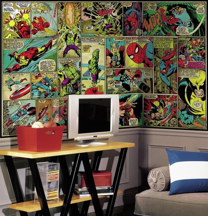 Tampilan Interior Ruangan Rumah dengan Tema Avengers